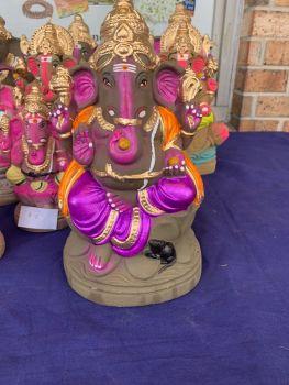 Handmade Clay Ganesh Idol