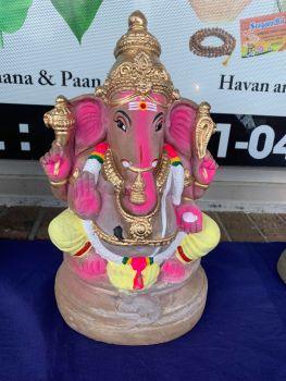 Handmade Eco friendly Ganesh Idol (Clay)