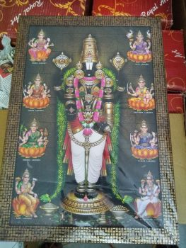 Lord Venkateswara With Ashta Lakshmi