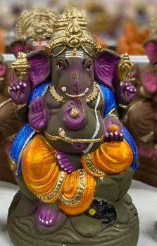 Clay  Eco friendly Ganesh Idol
