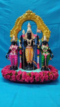 Murugan With Valli and devayani