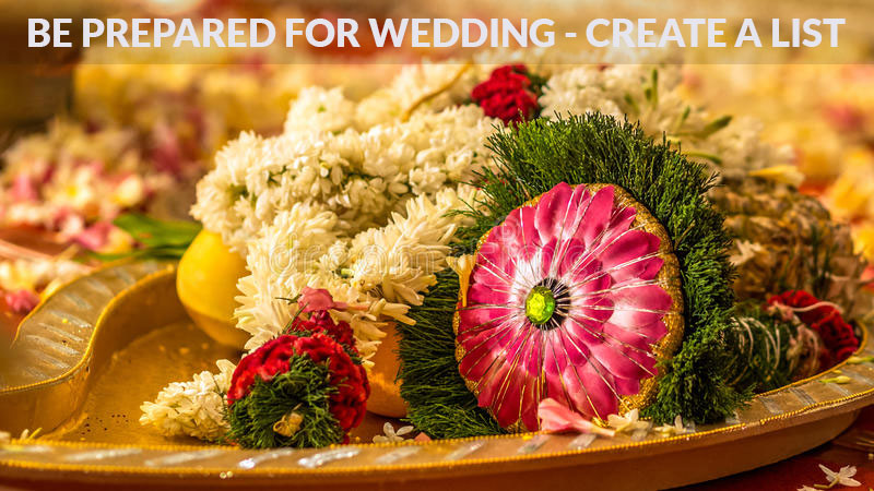 Wedding preparations - Make your list now!